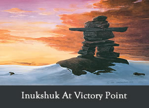 inukshuk at victory point