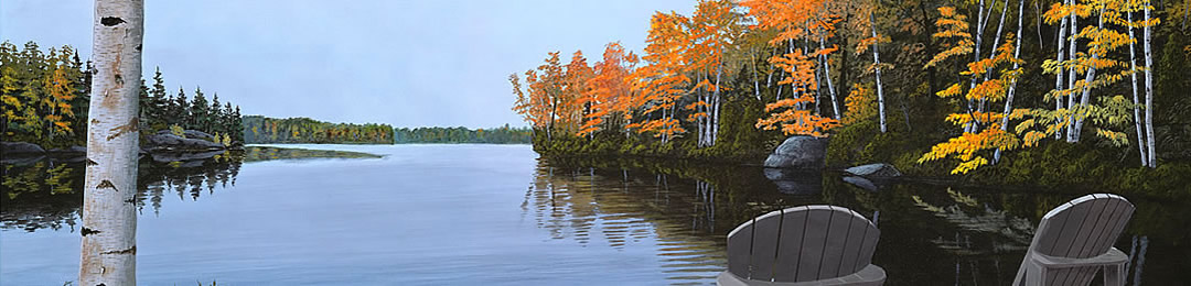 muskoka chair painting northern ontario, muskoka