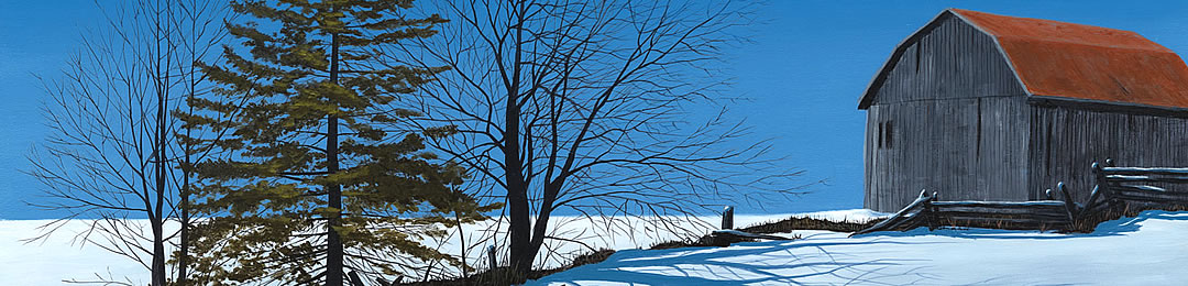 winter painting northern ontario, muskoka